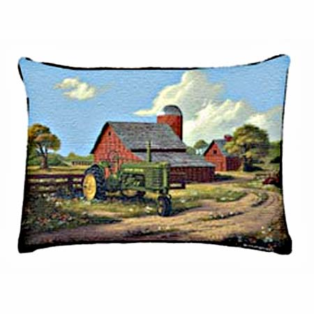Spirit of America John Deere Tapestry Pillow