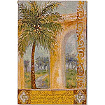 Coconut Palm Grande Tapestry - Shari White