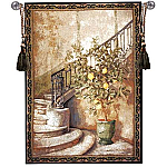 Lemon Stairwell Woven Wall Tapestry