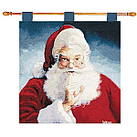 Holiday Hours Santa Claus Wall Tapestry