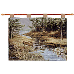 Summers End Deer Tapestry Wall Tapestry