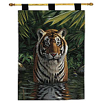 Tiger Pool Woven Tapestry Wall Hanging