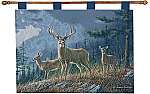 Autumn Whitetails Deer Wall Tapestry