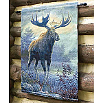 Northwoods Moose Tapestry Wall Hanging